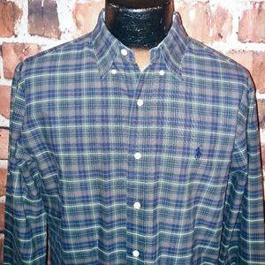 Ralph Lauren Mens Shirt M Plaid Long Sleeve